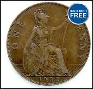 1911-a-1936-George-V-Penny-penny-Choix-de-l-039-annee-date