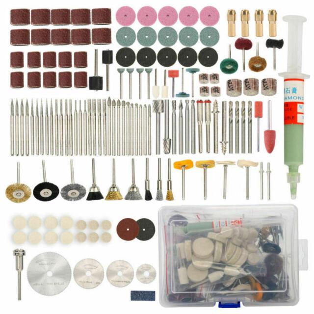 196pcs Set Rotary Tool Accessory Kit Fits For Grinding Sanding Polishing S7J9