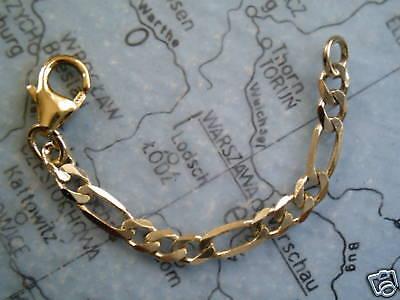 Kettenverlängerung Figaro 3 cm Gold Verlängerungskette 30 x 3 mm Gold 333
