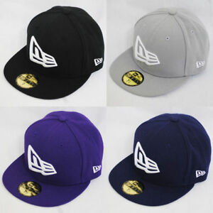 New Era 59fifty Flag Flat Peak Fitted Navy Black Grey Purple Hat Cap ... 87514be7901