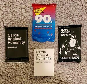 Nuevo-Lote-4-Pack-hepatitis-cronica-activa-tarjetas-Against-Humanity-anos-90-Science-rechazar