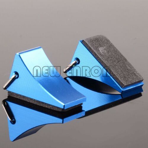 2P Aluminum FZ0010 RC Tire Wheel Chock Stop for Buggy Truck Rally Largefoot  Car