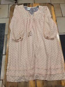 03eff757e6b2f Image is loading Anthropologie-One-September-Chevron-Swing-Anwen-Peasant- Dress-