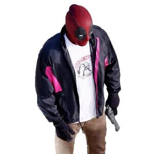 DEADPOOL-2-Ryan-Reynolds-Deadpool-1-WIELDS-A-GUN-JACKET-Free-Inside-T-Shirt