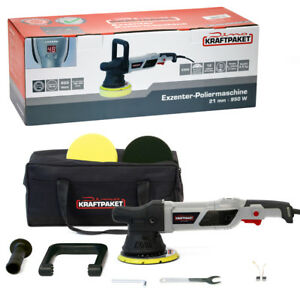 Dino-KRAFTPAKET-Exzenter-Poliermaschine-Profi-Set-21mm-950W-1-500-4-800-U-min