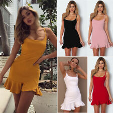ee64091439 item 3 Sexy Womens Strappy Ruffle Deep V Neck Bodycon Dress Ladies Party  Mini Short UK -Sexy Womens Strappy Ruffle Deep V Neck Bodycon Dress Ladies  Party ...