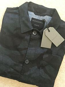 All Saints Men S Ink Japanese Cloth Quot Cale Quot Jacket Coat