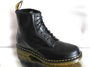 Originals Black 1460 New Eu45 in Us11 Uk10 8 fori Stivali Dr pelle a Martens Boots vqnwF5