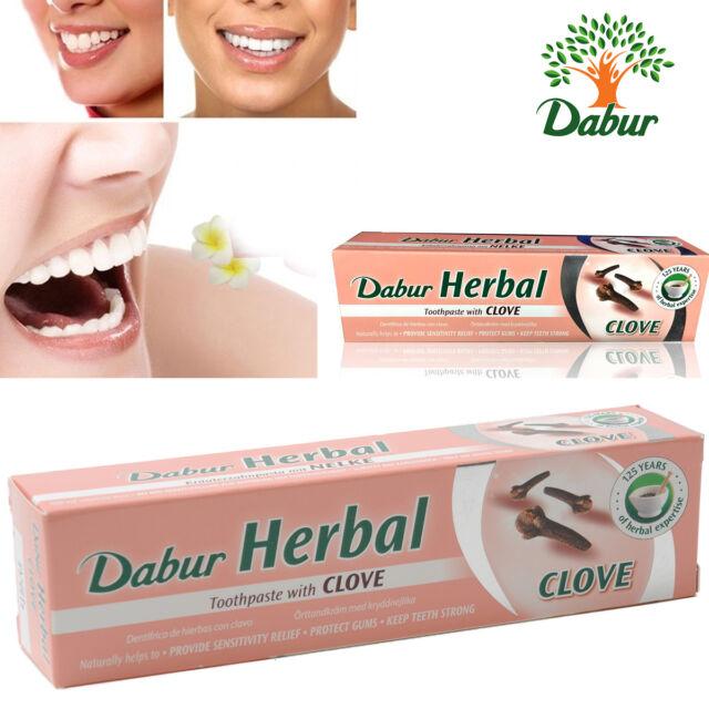 Dabur de hierbas Pasta de dientes con Clavo NO ADDED flúor Goma Protector 100 ml