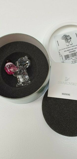 Swarovski Lovlots Kris Bear Pink  Cupcake New Box and Certificate 5004484