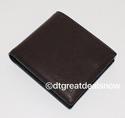New Coach Black Men/'s Compact ID Leather Wallet F74991