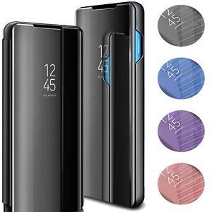 Handyhuelle-fuer-Samsung-Galaxy-S10-S10e-S10-Huelle-Mirror-View-Flip-Case-Tasche