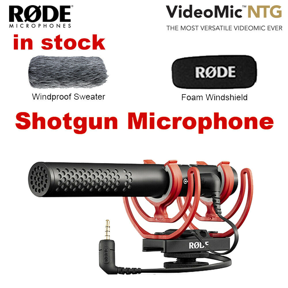 Original Rode VideoMic NTG Interview Record Microphone for Canon Nikon Sony DSLR