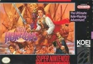 Uncharted Waters New Horizons - Nintendo SNES Game Authentic