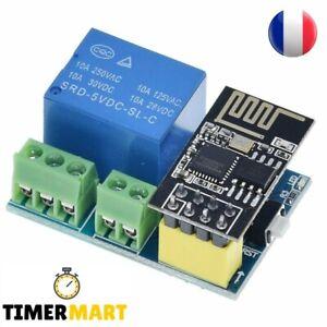 ESP8266 ESP-01S WiFi avec Module de Relais pour Arduino TimerMart