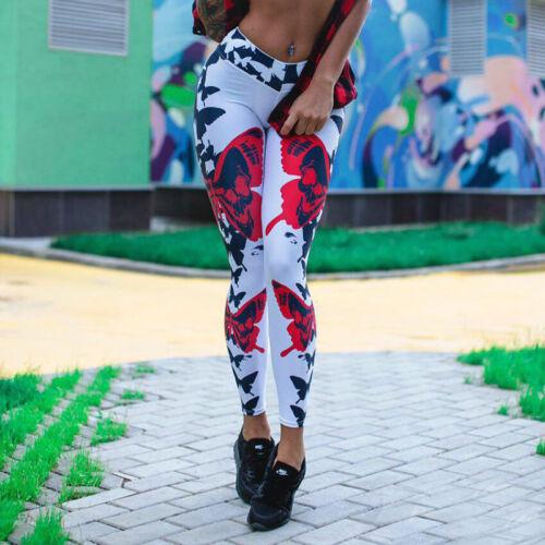 Womens Yoga Gym Fitness Leggings Sports Running Jogging High Waist Pant Trouser