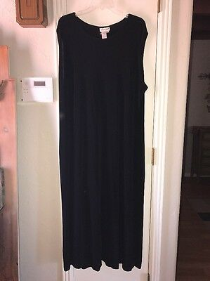 COLDWATER CREEK DRESS 3X TRAVELERS KNIT BLACK PRACTICAL EVENING/CHURCH/CASUAL