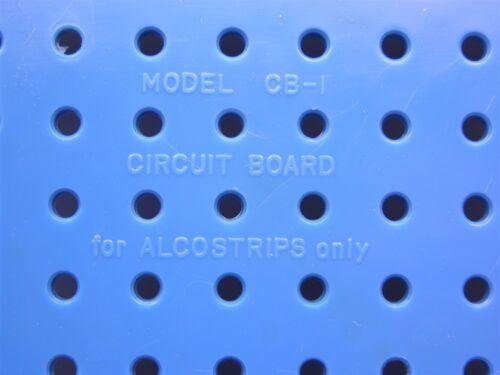 Vintage Alco Electronics CB-1 Plastic Breadboard W//10 Ceramic Terminal Strips