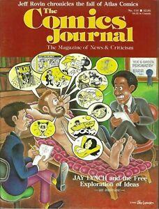 THE-COMICS-JOURNAL-114-FEB-1987-JAY-LYNCH-DARK-KNIGHT-GARDNER-FOX-ATLAS-COMICS
