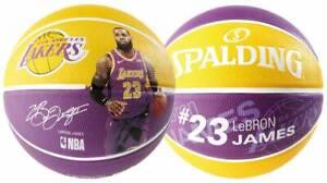 best authentic dae96 f0ee4 Das Bild wird geladen Spalding-NBA-PLAYER-LEBRON-JAMES-Outdoor-Basketball -Groesse-