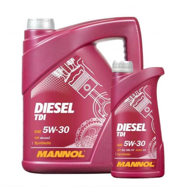 6L Mannol Diesel TDI Fully Synthetic Engine Oil 5w30 SN/SM/CF C2/C3