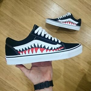 b9f18d1f8b Vans Old Skool x Bape Custom and Shark Teeth Camo ANY SIZE COLOUR ...
