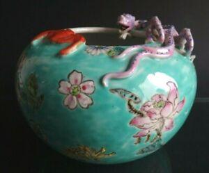 Ancien-vase-dragon-porcelain-Chine-thousand-flowers-brushwasher-chinese-bat-mark