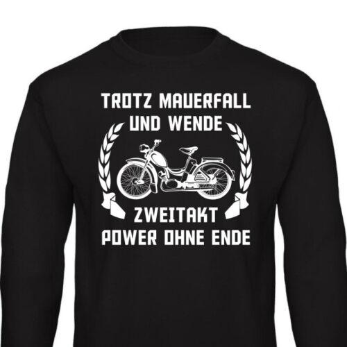 SR2 Pullover Sweatshirt DDR Geschenk Simson Zweitakt Trotz Mauerfall und Wende