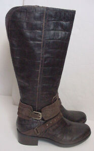 9453b7f2da5 Details about NEW UGG Australia Esplanade Croco Zip Riding Boots JAVA Brown  Womens Sz 7 $350