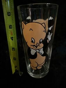 Looney Tunes Porky Pig 1973 Pepsi Collector Series Glass Warner Bros.