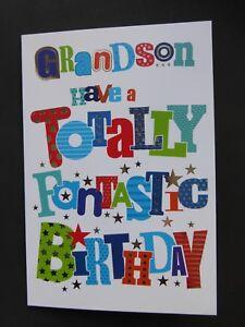 GRANDSON-Birthday-Card-Totally-Fantastic-Simon-Elvin-Word-Play