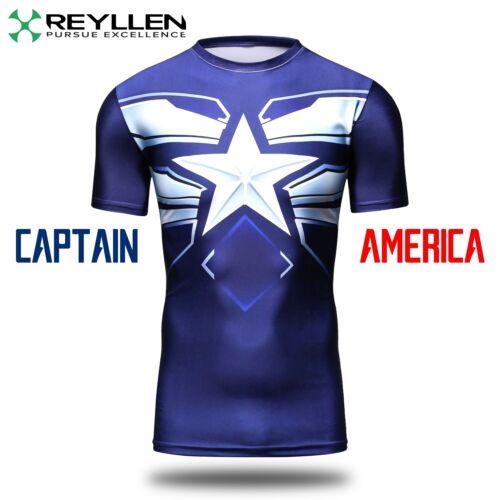Black Panther Batman Superman super héros Compression T-Shirt Fitness Gym