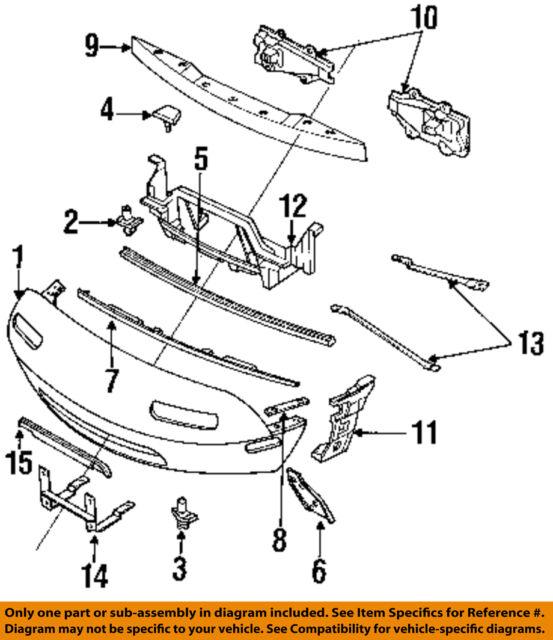 Miatamecca Front Bumper Set Plate L//S Fits 90-97 Miata MX5 Mazda NA01501AYC OEM