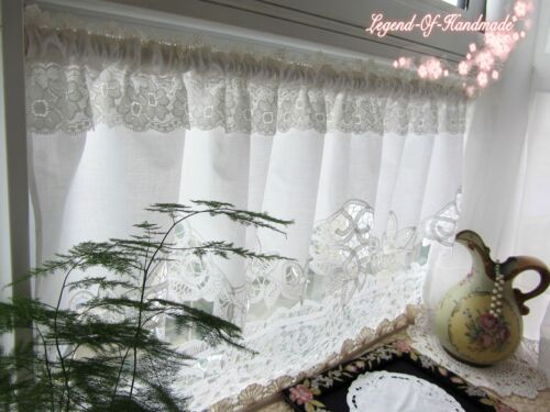 Beautiful Battenburg Lace Cafe Curtain Valance 14 58 White Original Design Curtains Drapes Chsalon Collectibles