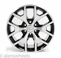 "4 Chevy Suburban Tahoe Black Machined Face 20"" Wheels Rims Lug Nuts 5656"