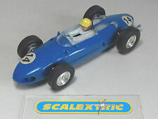 SCALEXTRIC Tri-ang 1960's Ferrari 156 V6 'Sharknose' Blue #14 C62 (EXCELLENT)