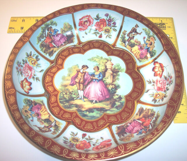 vintage ~ Made in England Tin Designed by Daher bowl / dish design 951942