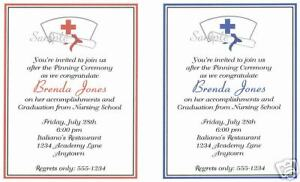 Details About 20 Custom Graduation Party Invitations Nursing Nurse