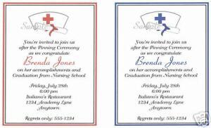 20 custom graduation party invitations nursing nurse ebay