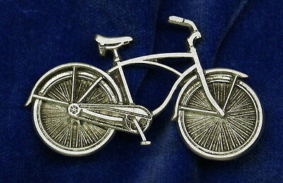 Pewter Beach Cruiser Bicycle Pin