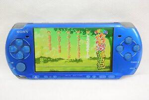 PSP-Console-Vibrant-Blue-PSP-3000-Sony-Playstation-Portable-Tetsed-Japan-2601