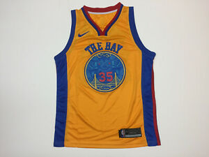 save off b749d 659cf Details about Kevin Durant #35 Golden State Warriors Men's Yellow 2018  Chinese New Year Jersey
