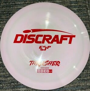 DISCRAFT ESP THRASHER SWIRLY DISC GOLF DRIVER 170-2G PINK / RED @ LSDISCS