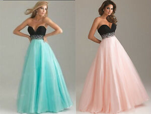 Stock-Bridesmaid-Wedding-Gown-Prom-Ball-Evening-Dress-Size-6-8-10-12-14-16-18