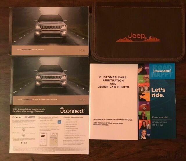 2018 Jeep Compass Owners Manual Set For Sale Free Manual Guide