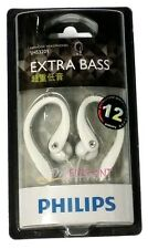 Philips SHS3201/98 Extra Bass Stereo Earhook Headphones Earphone for MP3 White