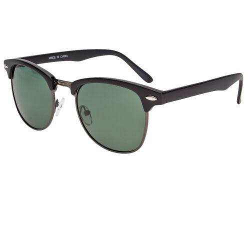 Polarized Retro Sunglasses Men Women Vintage Designer Metal Half Frame