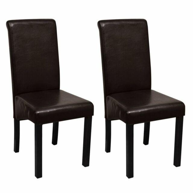 Sedie da Pranzo in Pelle sedia Soggiorno Moderna resistente vari Modelli