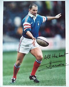 Image Is Loading Thierry Lacroix 1996 France Rugby Union Autographed Colour