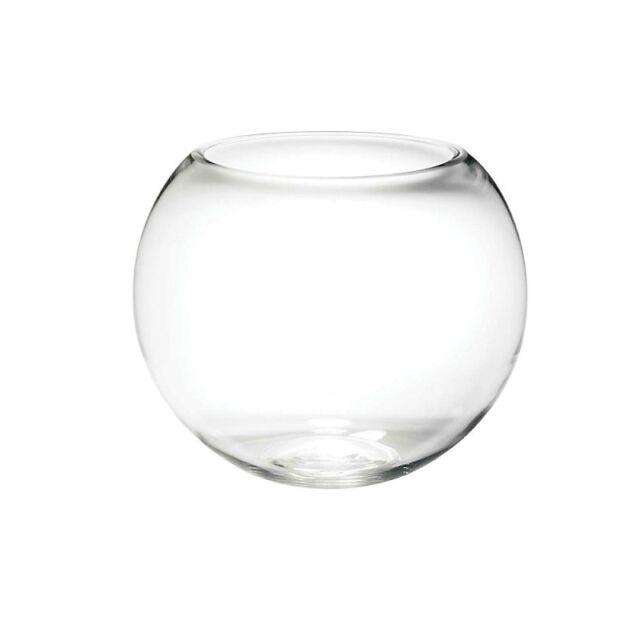 Glass Fishbowl Vase 30cm X 24cm Ebay